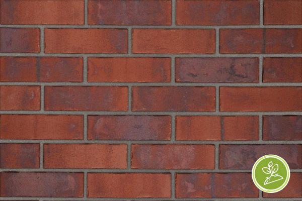 Strangpress-Riemchen BK-R-103-383 (Normalformat (NF)) rot nuanciert (Klinkerriemchen)