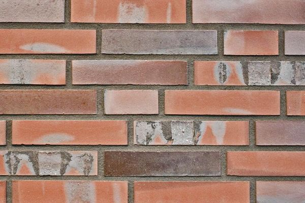 Strangpress-Klinker / Verblender BK-108-149-DF (Dünnformat-Klinkerstein (DF)) rot-bunt