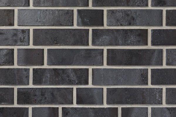 Strangpress-Riemchen BK-R-103-206 (Normalformat (NF)) schwarz - braun (Klinkerriemchen)