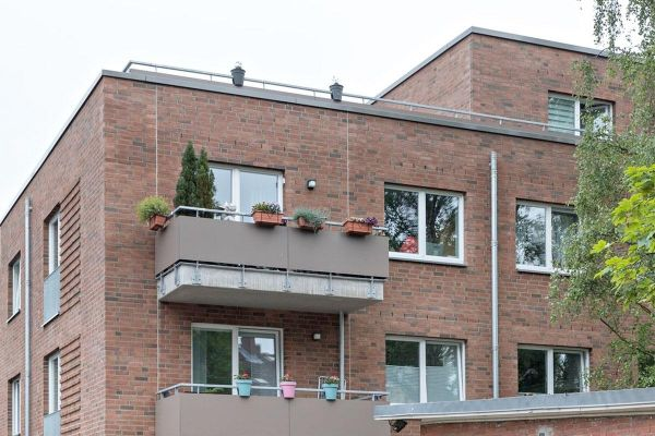 Mehrfamilienhaus  H1 mit Klinker 103-202-NF rot - braun