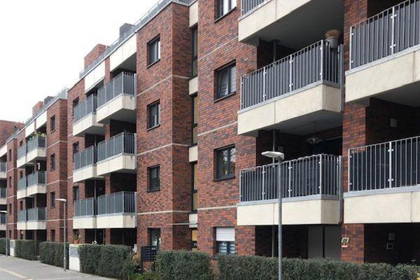Mehrfamilienhaus H2 mit Klinker 101-138-NF rot -blau - bunt - Kohle