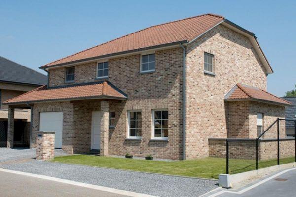 Einfamilienhaus / Stadtvilla H2 mit Klinker 103-140-WF braun-bunt