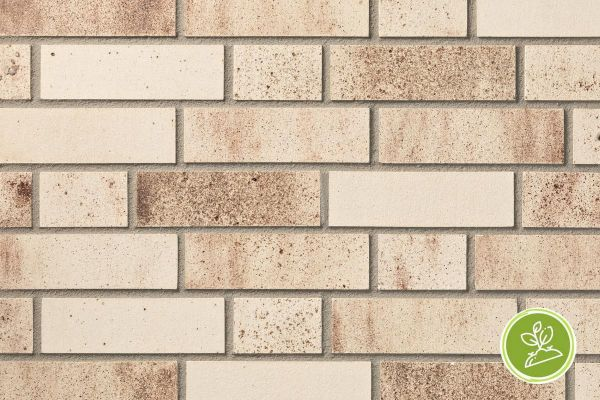 Strangpress-Riemchen BK-R-103-454 (Normalformat (NF)) beige - braun - nuanciert (Klinkerriemchen)