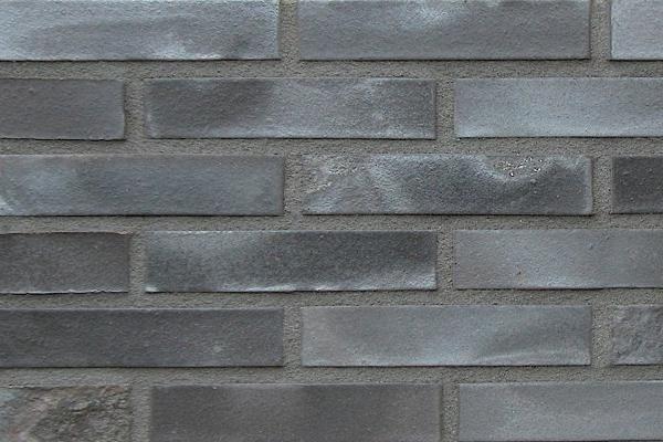 Strangpress-Klinker / Verblender BK-108-131-NF schwarz-grau Normalformat (NF)