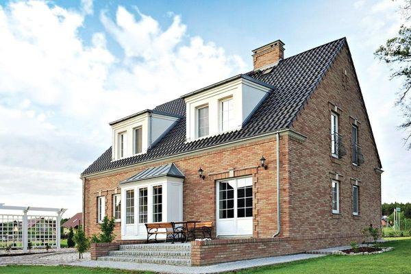 Einfamilienhaus / Landhaus mit Klinker 103-169-WDF beige - rot