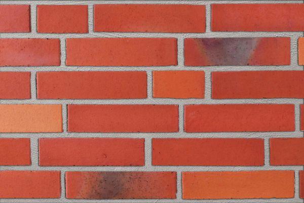 Strangpress-Klinker / Verblender BK-111-131-ARF (Reichsformat-Klinkerstein (RF)) orange bunt