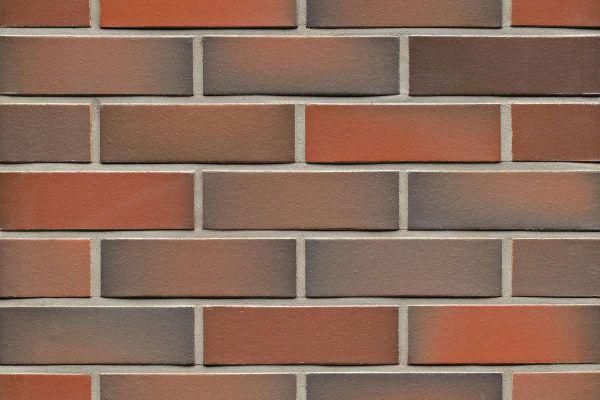 Strangpress-Riemchen BK-R-114-484 (Normalformat (NF)) rot - grau nuanciert (Klinkerriemchen)