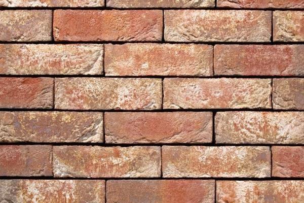 Klinker-Riemchen BK-R-103-05 rot - braun - weiß
