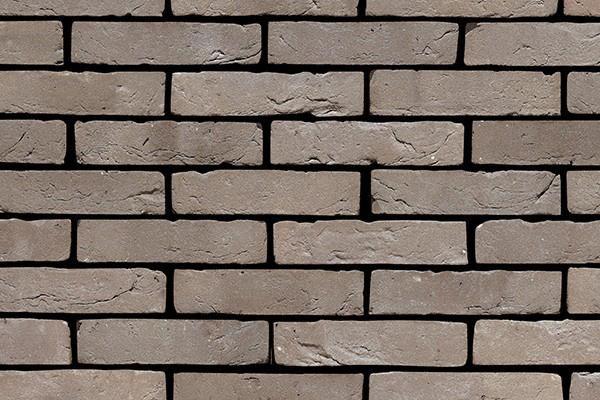 Handform-Klinker-Riemchen BK-R-103-67 grau-braun Waalformat (WF)
