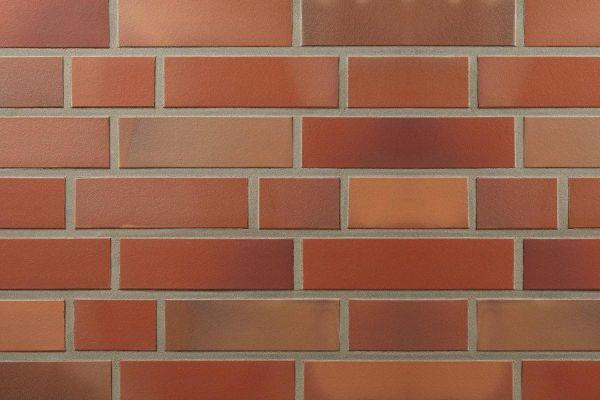 Strangpress-Riemchen BK-R-107-163-NF (Normalformat (NF)) rot nuanciert (Klinkerriemchen)