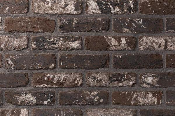 Handform-Klinker / Verblender BK-105-128-WDF (Waaldickformat (WDF)) anthrazit - weiß nuanciert