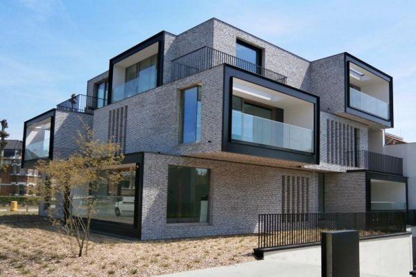 Bauhaus / Luxusvilla  H3 mit Klinker 103-146-WDF weiß, grau nuanciert