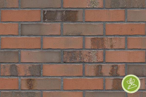 Strangpress-Riemchen BK-R-103-435 (Normalformat (NF)) rot nuanciert (Klinkerriemchen)