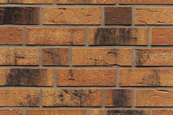 Strangpress-Riemchen BK-R-114-286 (Normalformat (NF)) braun - bunt  nuanciert (Klinkerriemchen)