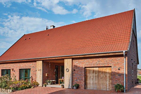 Landhaus H1 mit Klinker 111-116-RF rot - braun - bunt