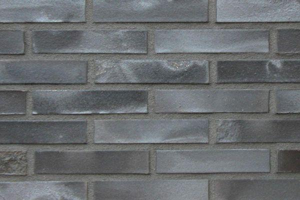 Strangpress-Klinker / Verblender BK-108-131-NF (Normalformat-Klinkerstein (NF)) schwarz-grau