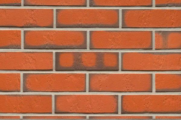 Strangpress-Riemchen BK-R-114-719 (Normalformat (NF)) rot - grau  nuanciert (Klinkerriemchen)