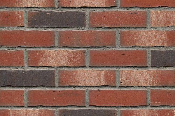 Strangpress-Riemchen BK-R-114-18 (Normalformat (NF)) rot, grau nuanciert (Klinkerriemchen)