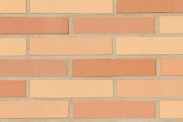 Strangpress-Klinker / Verblender BK-108-168-DF rot-gelb Dünnformat (DF)