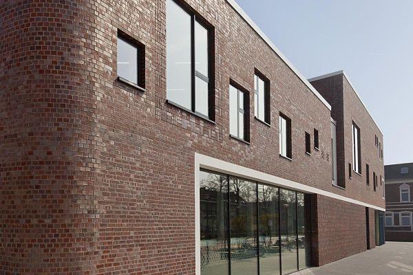 Bürogebäude H3 mit Klinker 101-106-NF rot - bräunlich -Kohle
