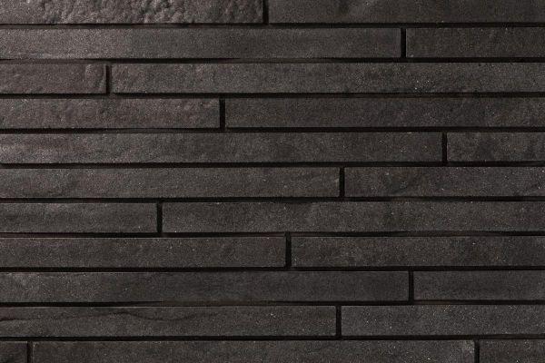 Strangpress-Klinker / Verblender BK-118-104-ModF (Modulformat-Klinkerstein (ModF)) schwarz nuanciert