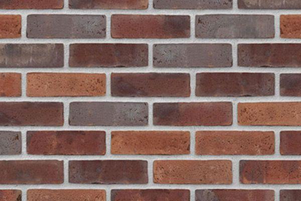 Wasserstrich-Riemchen BK-R-103-411 (Normalformat (NF)) rot - braun nuanciert (Klinkerriemchen)