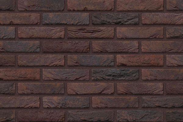 Handform-Riemchen BK-R-103-339 (Waalformat (WF)) braun - bläulich - violett (Klinkerriemchen)