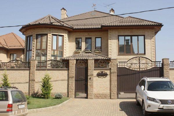Einfamilienhaus / Stadtvilla H4 mit Klinker 103-110-WDF gelb-bunt