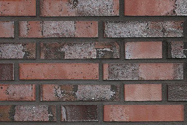 Strangpress-Klinker / Verblender BK-108-146-DF rot-braun Dünnformat (DF)