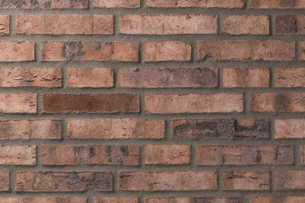 Strangpress-Klinker / Verblender BK-101-162-DF (Dünnformat-Klinkerstein (DF)) rot - bunt - Kohle