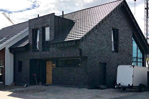 Einfamilienhaus H2 mit Klinker 101-119-NF grau - anthrazit