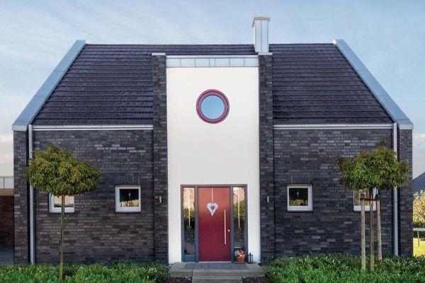 Einfamilienhaus H1 mit Klinker 101-115-NF schwarz - blau -bunt