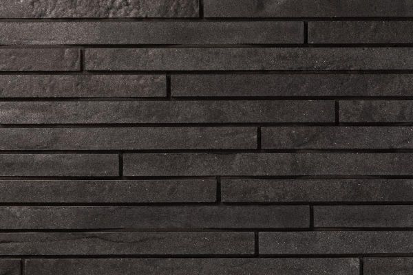 Strangpress-Riemchen BK-R-118-104-ModF (Modulformat (ModF)) schwarz nuanciert (Klinkerriemchen)