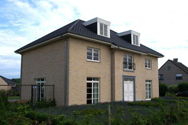 Einfamilienhaus / Stadtvilla H3 mit Klinker 103-110-WDF gelb-bunt
