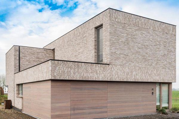 Bauhaus / Luxusvilla H2 mit Klinker 103-210-WDF grau
