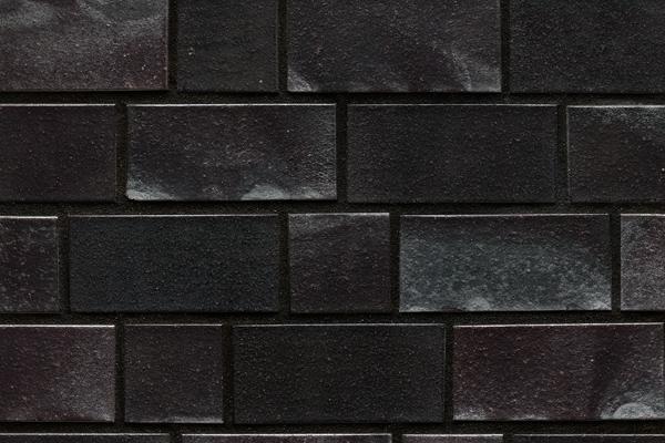 Strangpress-Klinker / Verblender BK-101-125-2DF schwarz - blau - Kohle Zweifaches Dünnformat (2DF)