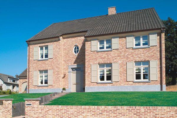 Stadtvilla H2 mit Klinker 103-115-WDF beige-bunt