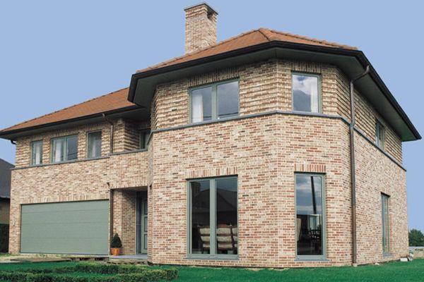 Einfamilienhaus / Stadtvilla H1 mit Klinker 103-106-WDF braun-bunt
