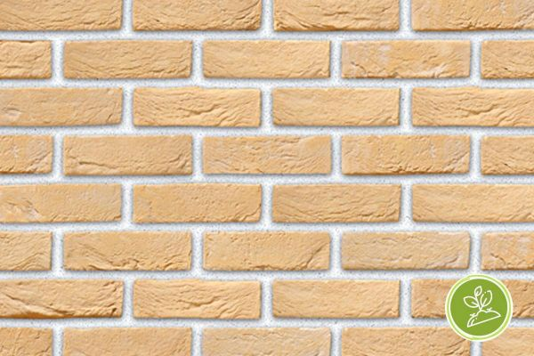 Handform-Riemchen BK-R-103-471 (Waaldickformat (WDF)) beige -  sand nuanciert (Klinkerriemchen)