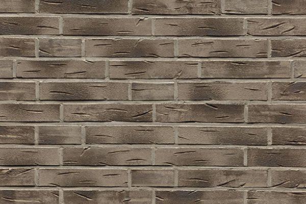 Strangpress-Riemchen BK-R-101-08 (Dünnformat (DF)) grau - anthrazit (Klinkerriemchen)