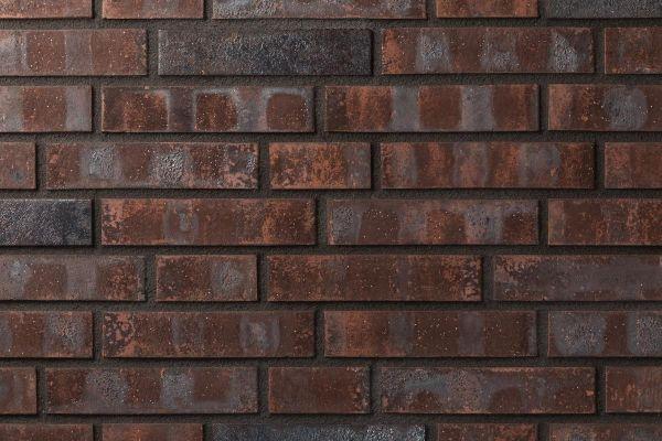 Strangpress-Klinker / Verblender BK-101-172-DF (Dünnformat (DF)) rot -Kohle
