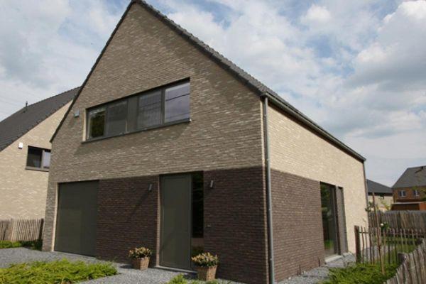 Einfamilienhaus H3 mit Klinker 103-153-WDF hellgrau - weiß nuanciert