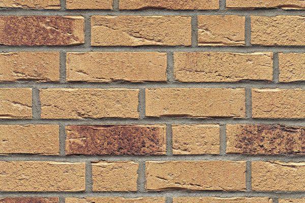 Strangpress-Riemchen BK-R-114-688 (Normalformat (NF)) beige - braun nuanciert (Klinkerriemchen)