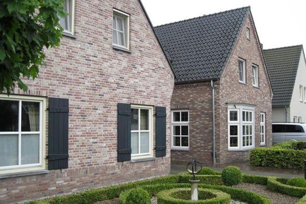Einfamilienhaus H5 mit Klinker 103-106-WDF braun-bunt