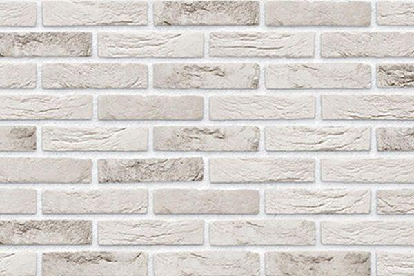 Handform-Klinker / Verblender BK-103-144-WF (Waalformat-Klinkerstein (WF)) weiß-grau
