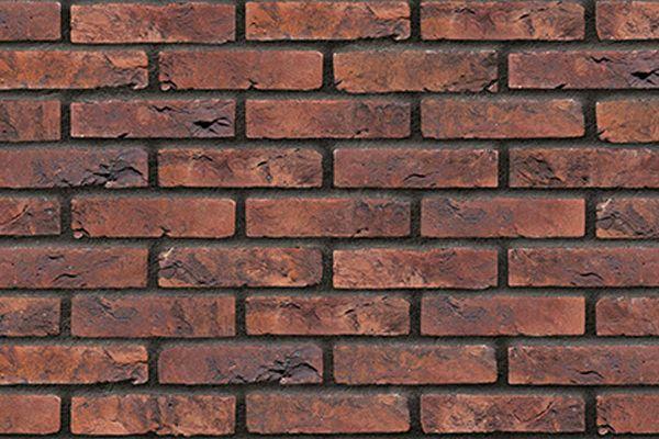 Handform-Klinker / Verblender BK-103-180-WF (Waalformat-Klinkerstein (WF)) braun - bunt