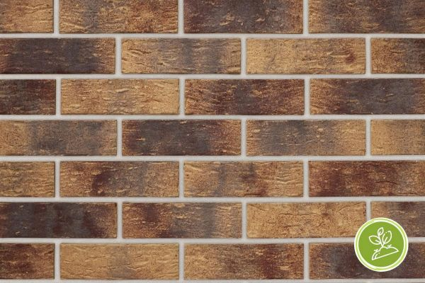 Strangpress-Riemchen BK-R-103-326 (Normalformat (NF)) rot, beige / sand nucaniert (Klinkerriemchen)