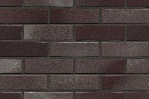 Strangpress-Riemchen BK-R-114-384 (Normalformat (NF)) rot - anthrazit nuanciert (Klinkerriemchen)