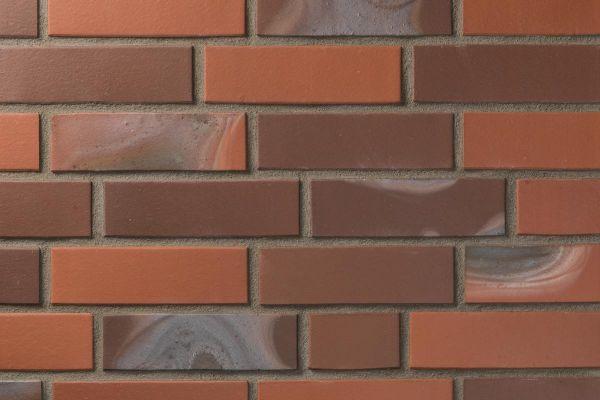Strangpress-Klinker / Verblender BK-102-107-NF (Normalformat (NF)) rot-braun