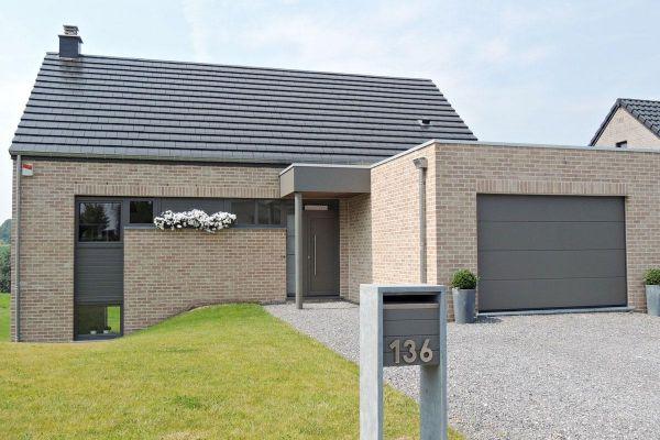 Einfamilienhaus  H2 mit Klinker 103-169-WDF beige - rot